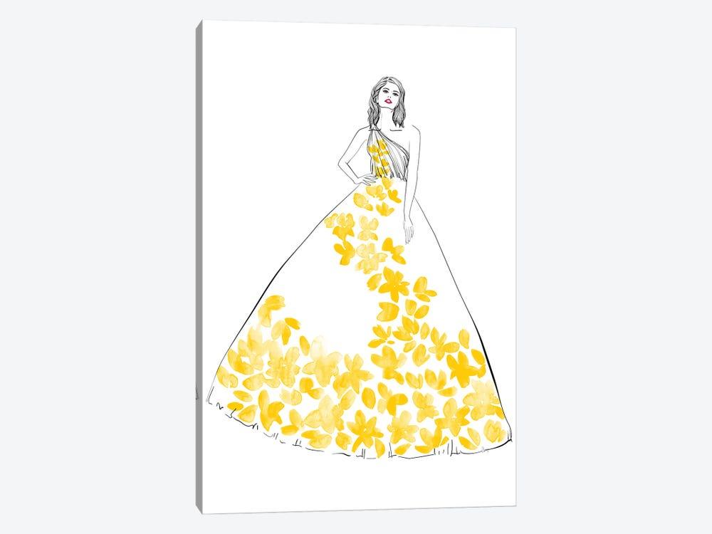 Oletta Fashion Illustration In Yellow by blursbyai 1-piece Canvas Print