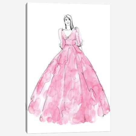 Fini Fashion Illustration In Pink Canvas Print #RLZ294} by blursbyai Canvas Print