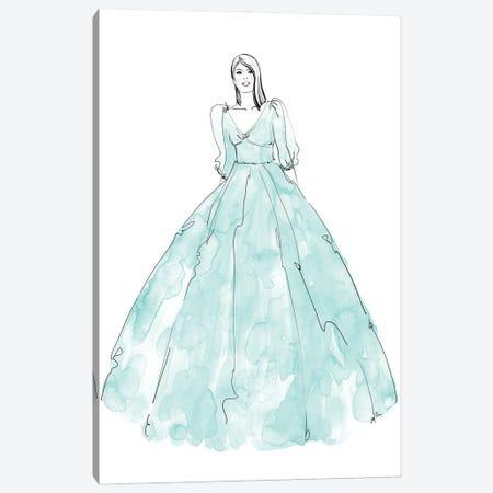 Fini Fashion Illustration In Mint Canvas Print #RLZ295} by blursbyai Canvas Print