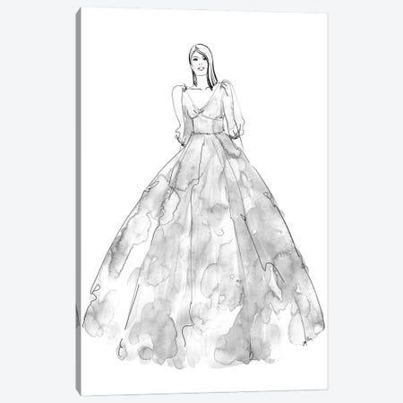 Fini Fashion Illustration In Grey Canvas Print #RLZ296} by blursbyai Art Print