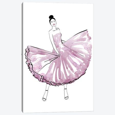 Maija Fashion Illustration In Mauve Canvas Print #RLZ298} by blursbyai Canvas Artwork