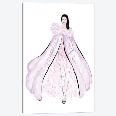 Velma Fashion Illustration In Lilac Canvas Print #RLZ303} by blursbyai Canvas Wall Art