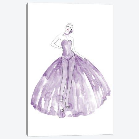 Beren Fashion Illustration In Mauve Canvas Print #RLZ305} by blursbyai Canvas Print