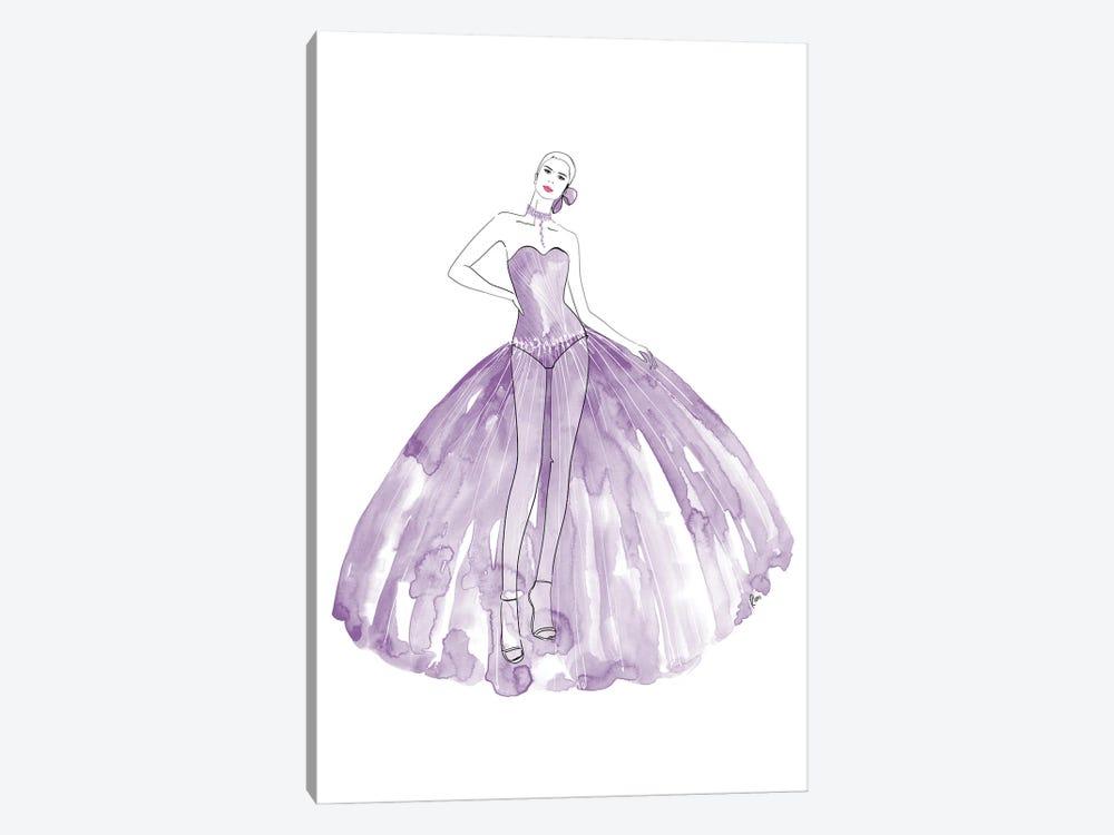 Beren Fashion Illustration In Mauve by blursbyai 1-piece Art Print