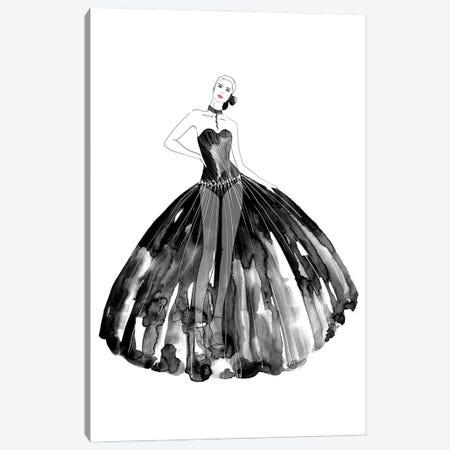 Beren Fashion Illustration In Black Canvas Print #RLZ306} by blursbyai Art Print