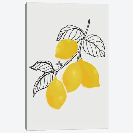 Lamya Lemons Canvas Print #RLZ342} by blursbyai Canvas Wall Art