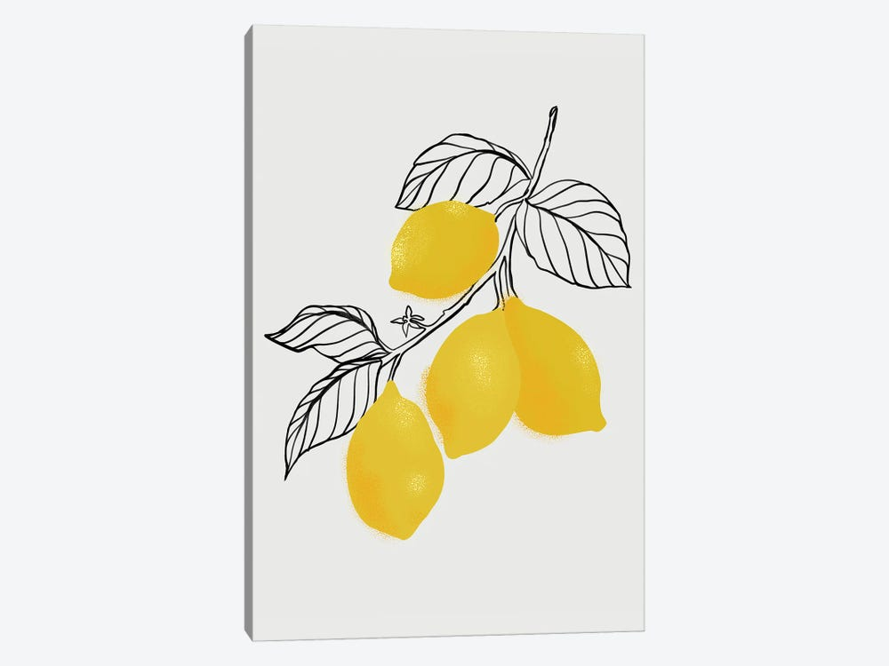 Lamya Lemons by blursbyai 1-piece Canvas Art