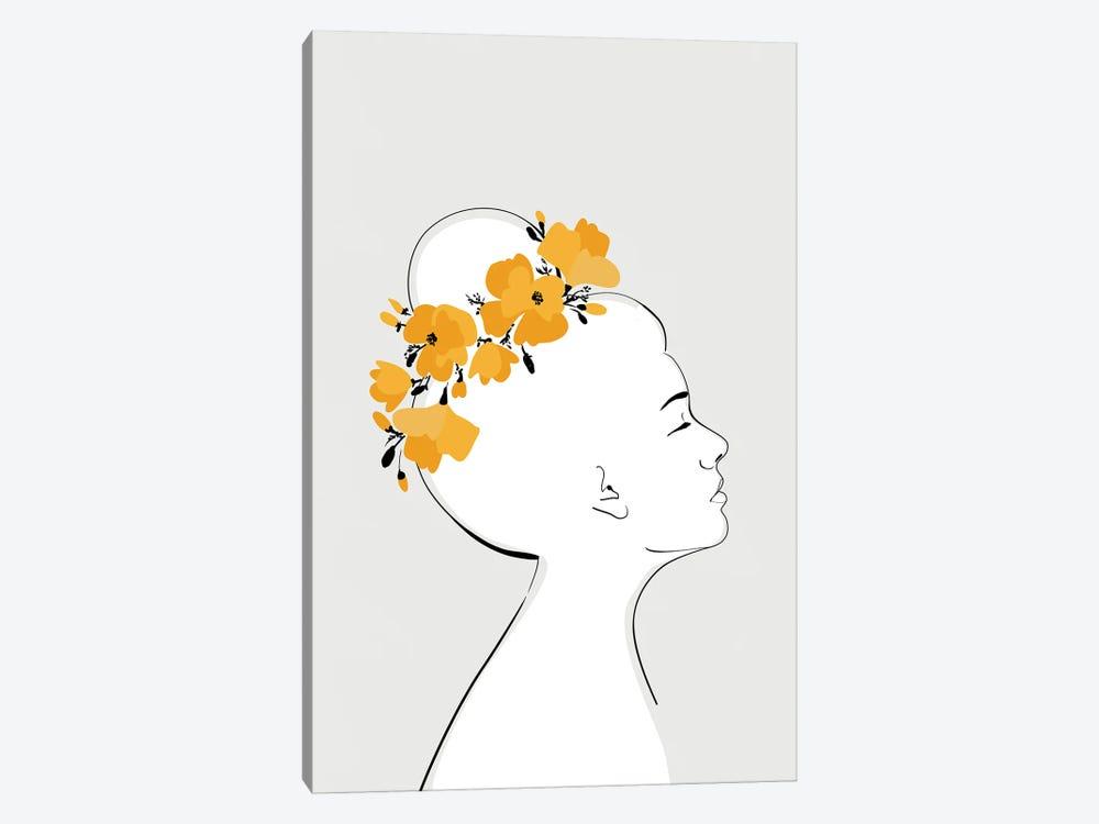 Sanyu Portrait With California Poppies by blursbyai 1-piece Canvas Print