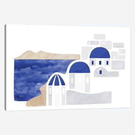 Santorini Shapes Canvas Print #RLZ363} by blursbyai Canvas Art