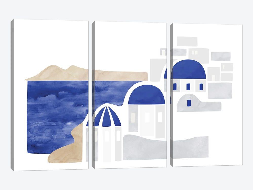 Santorini Shapes by blursbyai 3-piece Art Print