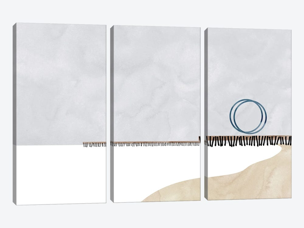 Santa Monica Shapes by blursbyai 3-piece Canvas Artwork