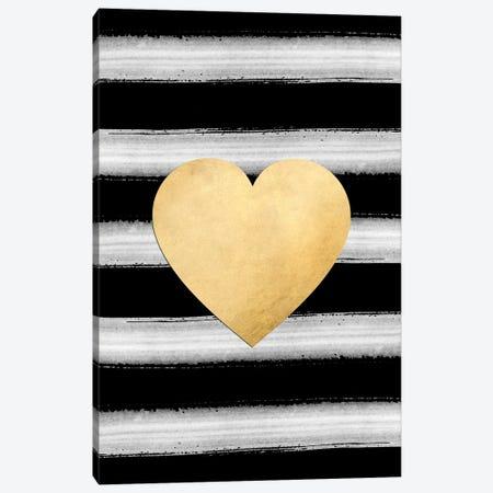 Glam Gold Heart Canvas Print #RLZ40} by blursbyai Art Print