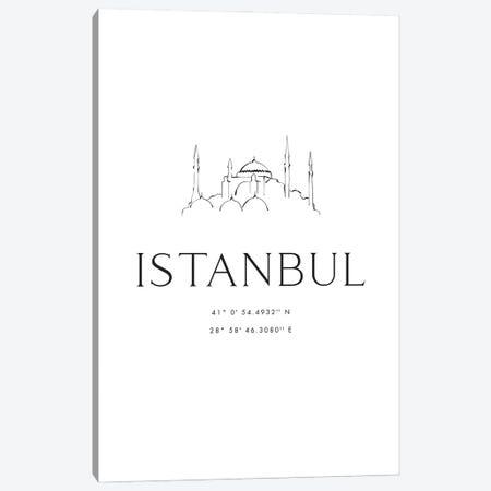 Istanbul Coordinates Canvas Print #RLZ416} by blursbyai Canvas Art Print
