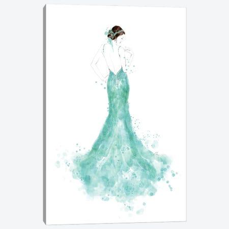 Mermaid Dress Fashion Illustration Canvas Print #RLZ44} by blursbyai Canvas Wall Art