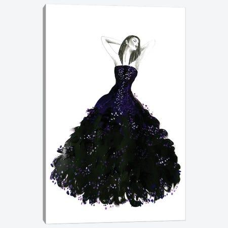 Fashion Illustration Long Black Dress Canvas Print #RLZ49} by blursbyai Canvas Print