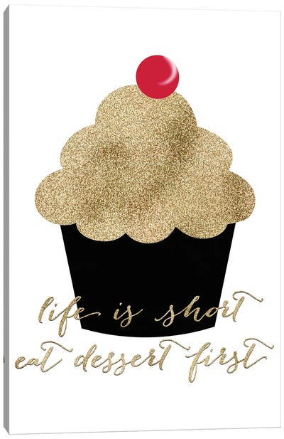 Eat The Cupcake Canvas Art Print