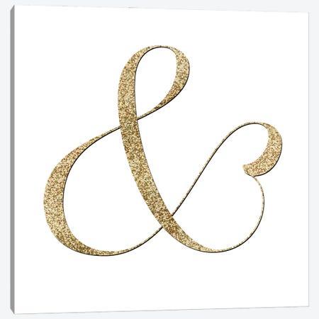 Gold Fancy Ampersand Canvas Print #RLZ56} by blursbyai Canvas Art Print