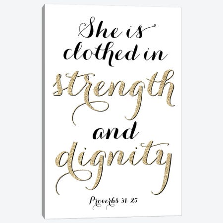 Clothed In Strenght And Dignity Canvas Print #RLZ60} by blursbyai Canvas Art Print
