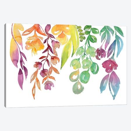 Colorful Loose Florals Canvas Print #RLZ68} by blursbyai Canvas Art Print