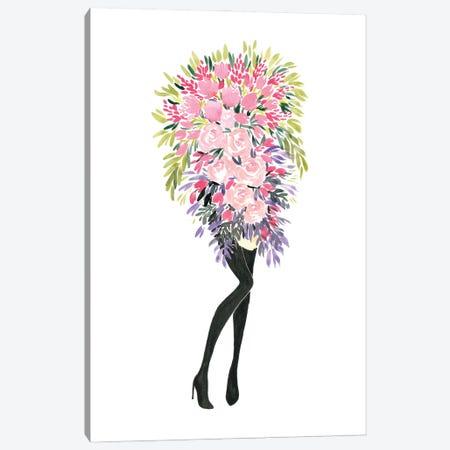 Miss Bouquet II Canvas Print #RLZ90} by blursbyai Canvas Wall Art