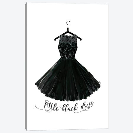 Little Black Dress In Hanger Canvas Print #RLZ94} by blursbyai Canvas Art Print