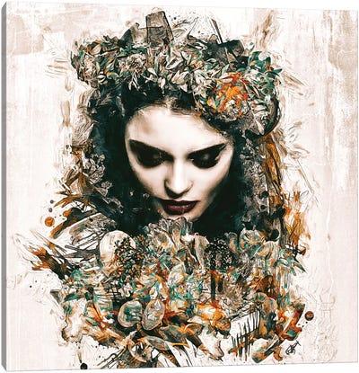 Les Fleurs Qui Passent Canvas Art Print