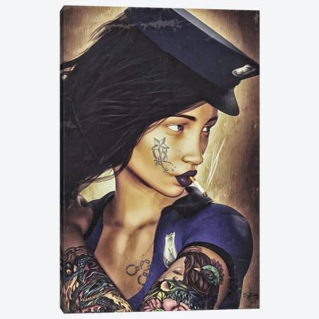 Police Canvas Print #RMB23} by Romain Bonnet Canvas Artwork