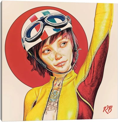 Racer Canvas Art Print