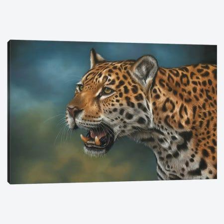 Jaguar Canvas Print #RMC26} by Richard Macwee Canvas Artwork