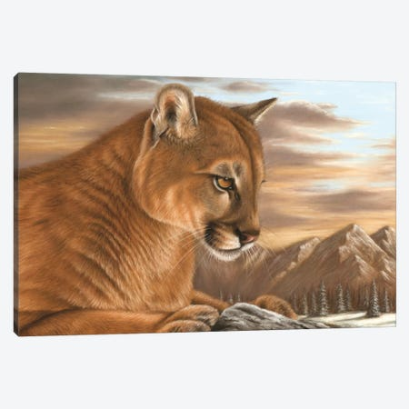 Puma Canvas Print #RMC41} by Richard Macwee Canvas Art Print