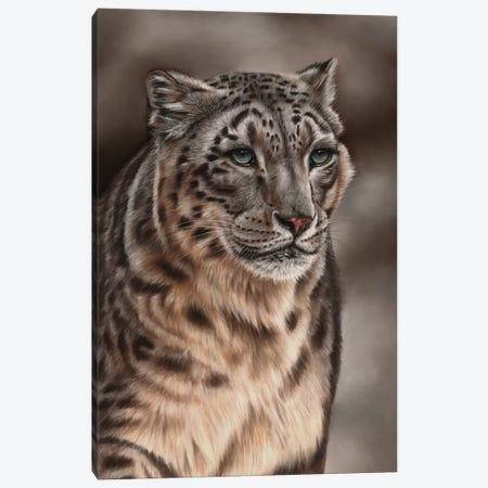 Snow Leopard Canvas Print #RMC51} by Richard Macwee Canvas Art