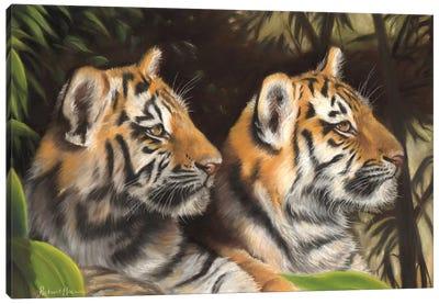 Tiger Cubs Canvas Art Print
