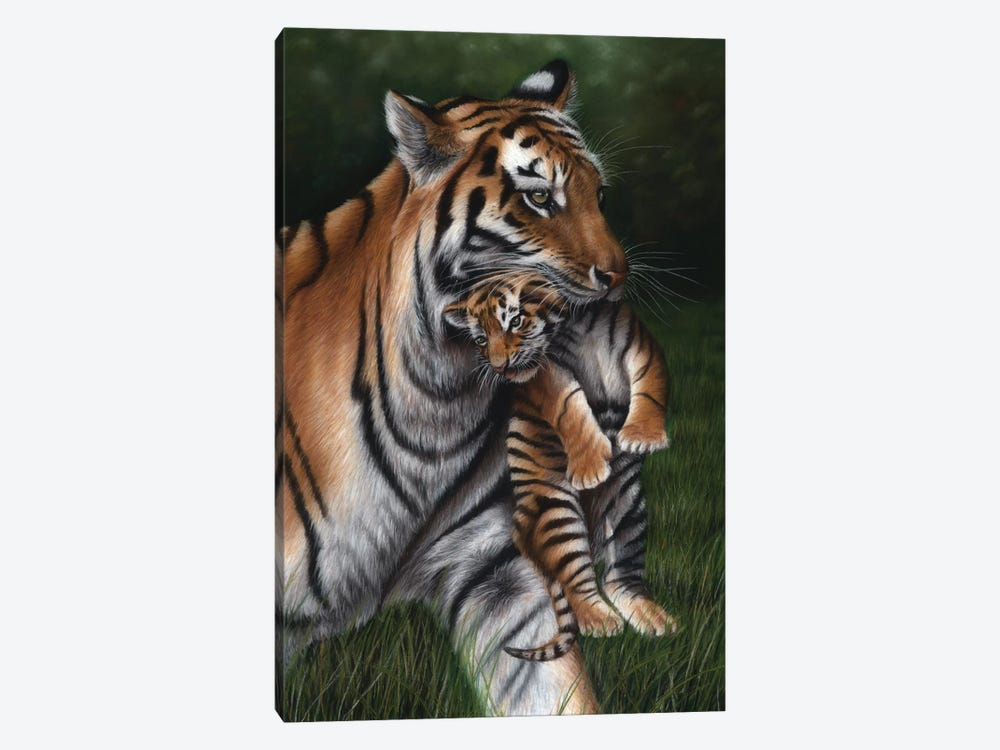 Tiger With Cub by Richard Macwee 1-piece Canvas Art