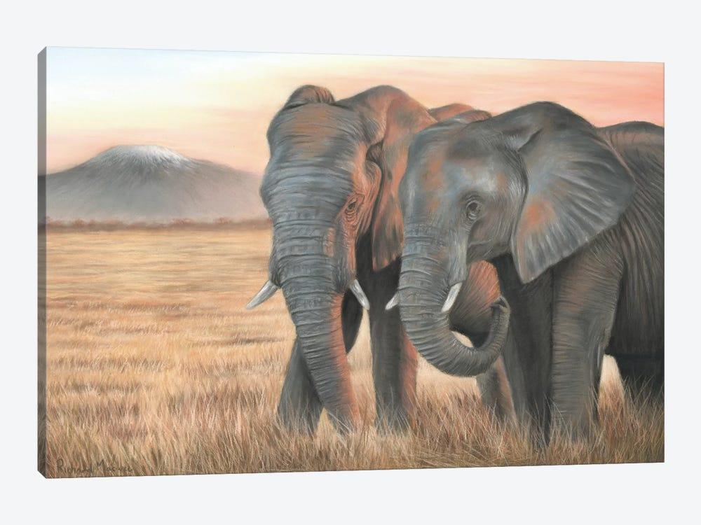Two Elephants by Richard Macwee 1-piece Canvas Wall Art