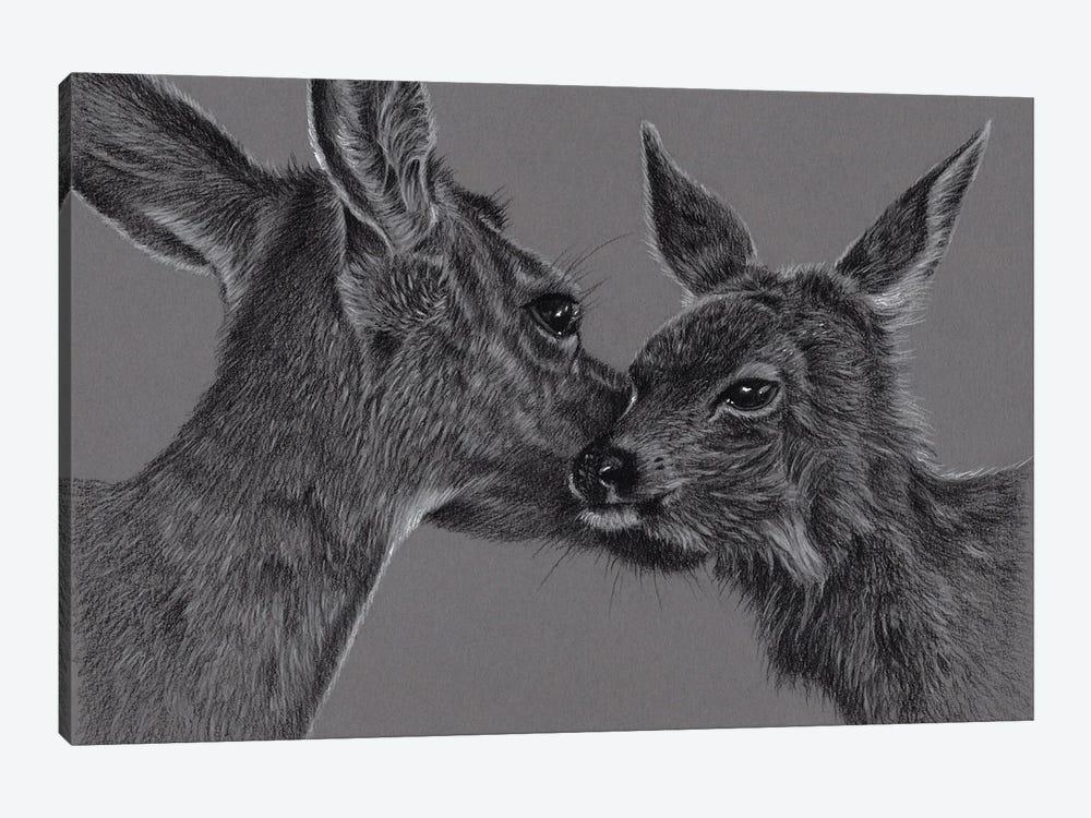 Deer With Fawn by Richard Macwee 1-piece Art Print