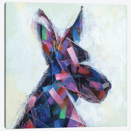 The Abstract Doberman Canvas Print #RMI30} by Russell Miyaki Canvas Art