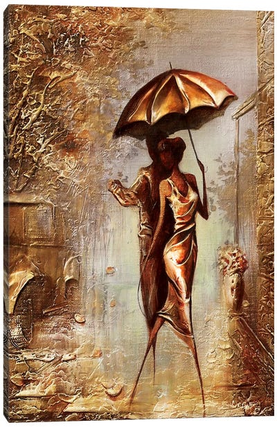 Dancing Under The Rain Canvas Art Print