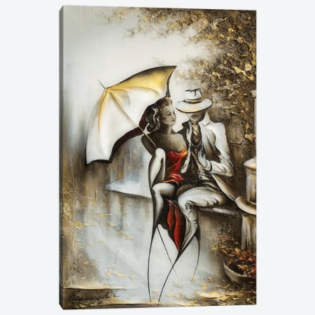 Flirts Canvas Print #RMN14} by Raen Canvas Wall Art