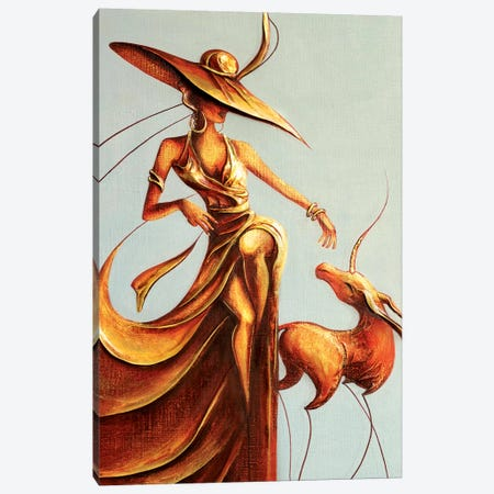 Lady And Unicorn Canvas Print #RMN19} by Raen Canvas Print