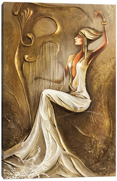 Light Night Melody Canvas Art Print