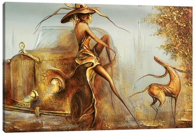 Mercedes Benz Girl Canvas Art Print