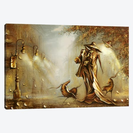 Night On The Town Canvas Print #RMN24} by Raen Art Print