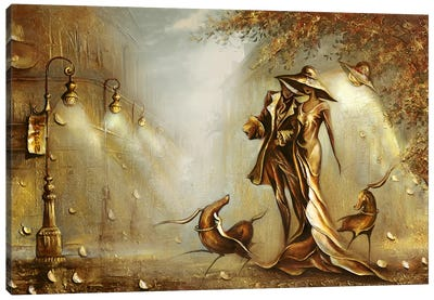 Night On The Town Canvas Art Print