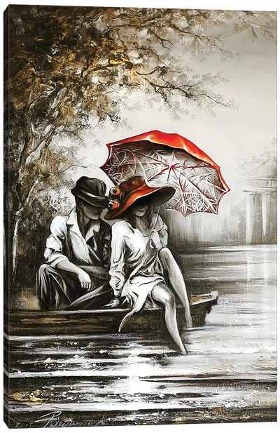 Romantic Date Canvas Art Print
