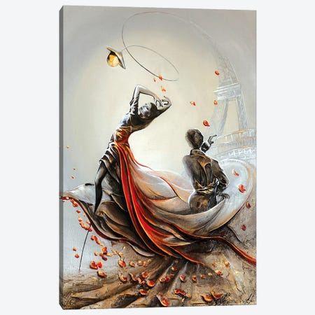 Tango In Paris Canvas Print #RMN29} by Raen Canvas Art