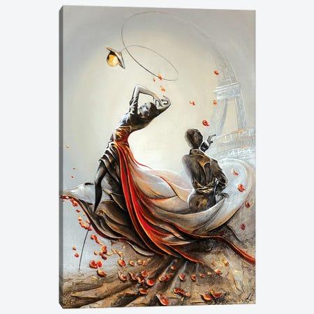 Tango In Paris 3-Piece Canvas #RMN29} by Raen Canvas Art