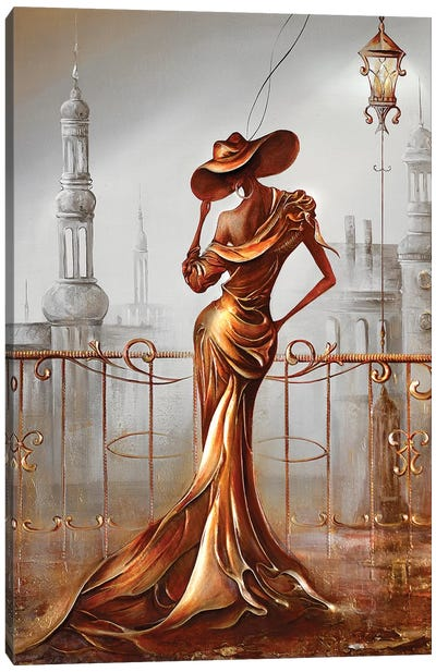 Woman In Gold Canvas Art Print