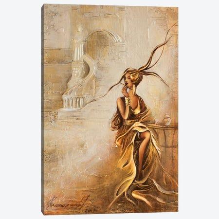 Tea Time Canvas Print #RMN40} by Raen Canvas Wall Art