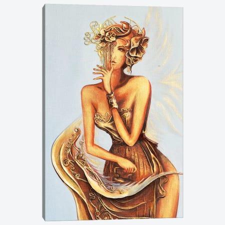 Angel Ironing Wings Canvas Print #RMN4} by Raen Canvas Art Print