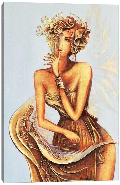 Angel Ironing Wings Canvas Art Print